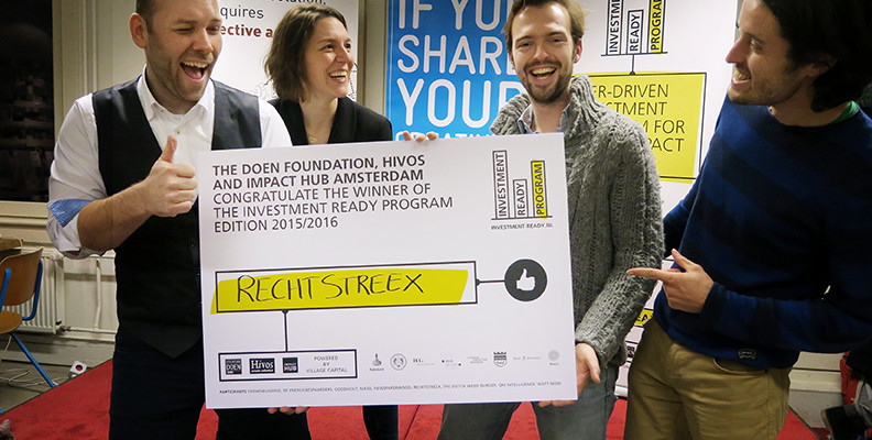 Rechtstreex wins Investment Ready Program 2015/2016